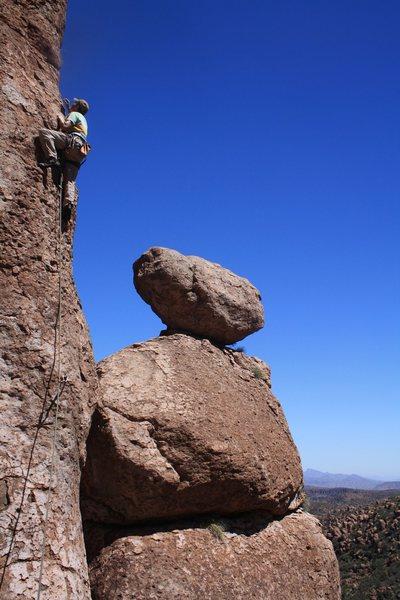 Rock Climbing Photo: Scott on 38 of 40