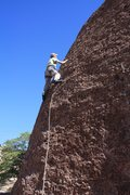Rock Climbing Photo: scott on an unknown route right ol solo meo