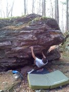 Rock Climbing Photo: Paul just of the variation 2 start to this problem...