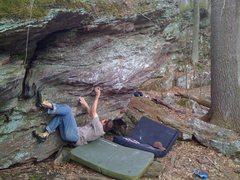 Rock Climbing Photo: Just off the start to the good undercling.