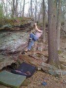 Rock Climbing Photo: Toppin' er out.