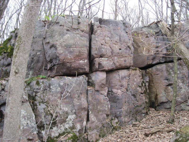 Rock Climbing Photo: The first bit of rock seen as approaching from the...