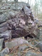 Rock Climbing Photo: Sweet overhaning boulder with good features. To ba...