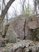 Rock Climbing Photo: I believe I did a V4 that Desalvo put up on the le...
