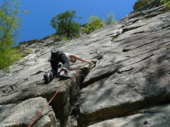 Rock Climbing Photo: This is near the start, just follow the crack!