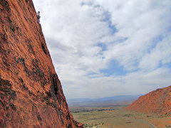 Rock Climbing Photo: Renee Chi at the anchors on P2