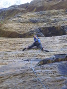 Rock Climbing Photo: Shaking out in the thin upper section just as it s...