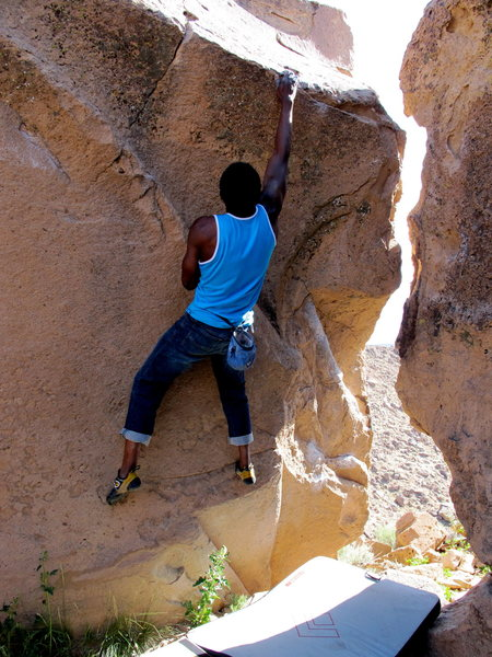 Rock Climbing Photo: Not the Clapper V1+