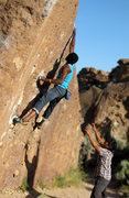 Rock Climbing Photo: Last move on Solarium V3. No send.