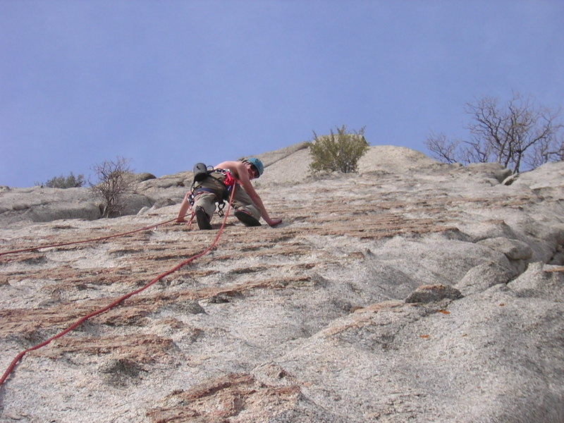 Rock Climbing Photo: A warm day on Eggo