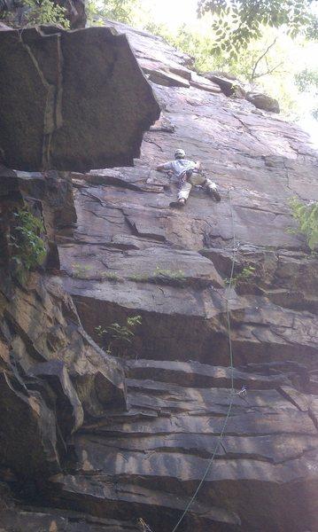 Rock Climbing Photo: Jim sending Happiness Is Slavery.