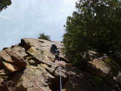 Rock Climbing Photo: Above the little roof.