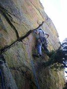 Rock Climbing Photo: Starting up the P. Chip.
