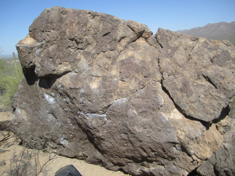 Rock Climbing Photo: Big Bulge/Big Undercling at Gate's Pass upper boul...