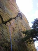 Rock Climbing Photo: Short pitch with ever increasing difficulty.  Star...