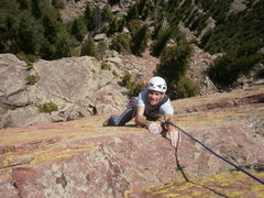 Rock Climbing Photo: Topping out the Potato Chip.