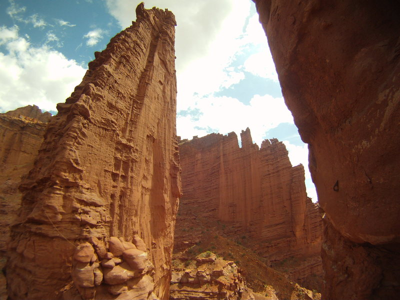 Rock Climbing Photo: Echo Tower. As seen from the ledge that connects t...