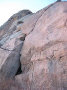 Rock Climbing Photo: The route. Stay on the outside during the start fo...