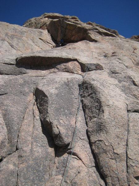 Rock Climbing Photo: No cheap thrills here on the .9X start.  Just slab...