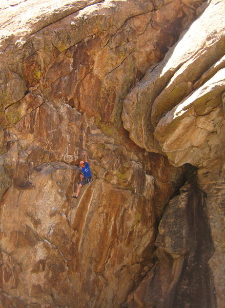 Rock Climbing Photo: A heartbreaking crux thankfully eases into the (se...
