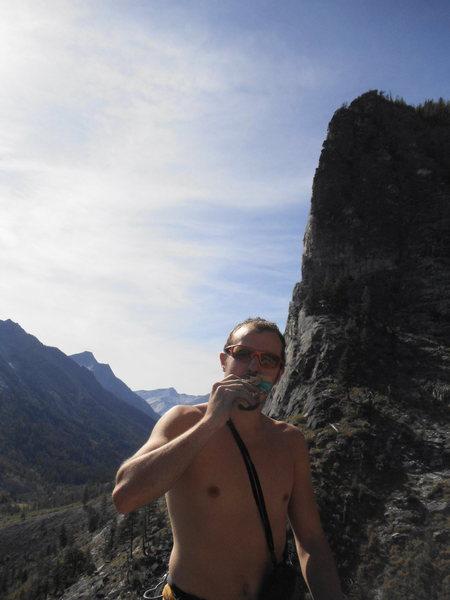 Rock Climbing Photo: lunch ledge