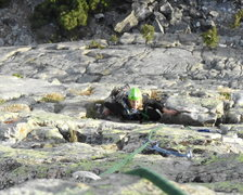 Rock Climbing Photo: emily following the last pitch