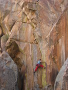 Rock Climbing Photo: Take 1 part wide crack, 2 parts new shoes and thro...