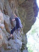 Rock Climbing Photo: Pulling through the juggy horizontals at the start...