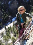 Rock Climbing Photo: me in Boulder Canyon
