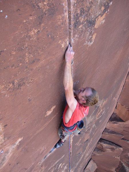 Rock Climbing Photo: Christian Gauderer giving it some corn.