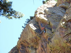 Rock Climbing Photo: Midway up the Super Natural corner.