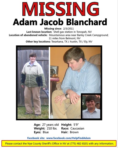 Updated flyer for Adam Jacob Blanchard