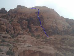Rock Climbing Photo: Hike up from the base of Physical Graffiti about 1...