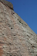 Rock Climbing Photo: 5.7 on the Monolith- West Face Run out, as are mos...