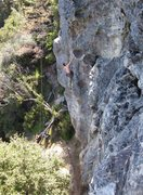 Rock Climbing Photo: Pascal on Triple Overhang
