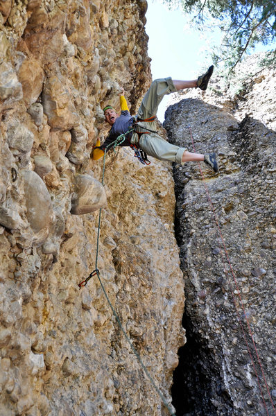 climbing in Maple Canyon, Utah