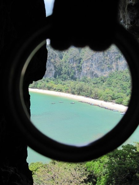 Railay, from the top of the 'climb through'