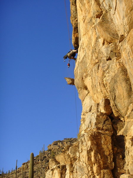 JB mega-chipping on the route MENTAL BLOCK.<br> <br> DO NOT LET JIM SCOTT SEE THIS PHOTO !<br> <br> Snapped by JoZee