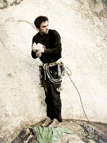 Rock Climbing Photo: getting ready to try cowabunga!