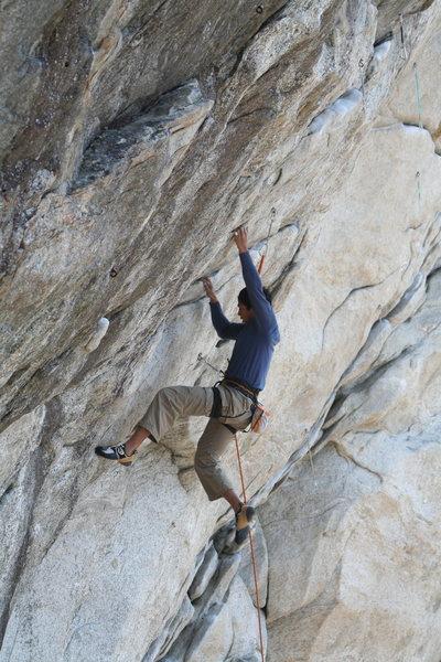 Rock Climbing Photo: Finding feet