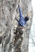 Rock Climbing Photo: Punting at the crux.