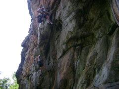 Rock Climbing Photo: Rebolting work at Hidden Wall. 5.11.2011
