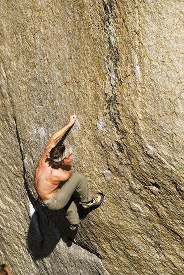 Rock Climbing Photo: Max Krimmer on the Checkerboard (V7/8) Buttermilks...