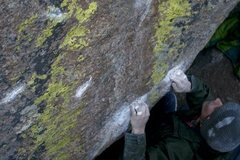 Rock Climbing Photo: Max Krimmer on the Green Lantern (V11) Ute Pass, C...