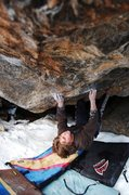 Rock Climbing Photo: Max Krimmer on Riddles in the Dark (V9) RMNP, CO  ...