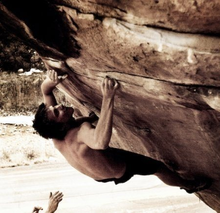 Max Krimmer on Worst Case Scenario (V9)<br> Joe's Valley, UT<br> <br> Photo: Ryan Nieto