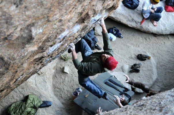 Max Krimmer on The Fall Guy (V9)<br> Bishop<br> <br> Photo: Elizabeth Michaels