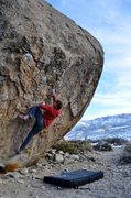 Rock Climbing Photo: Max Krimmer on Finder's Fee (V9/10) Pollen Grains,...
