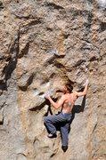 Rock Climbing Photo: Max Krimmer on Zen Flute (V10) Dale's Camp, Bishop...