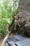 Rock Climbing Photo: Max Krimmer sends Tojo Risen (V6) Newlin Creek, CO